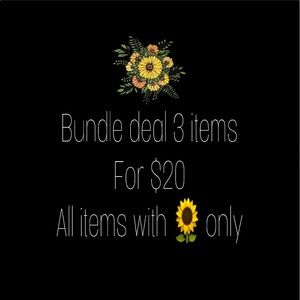 Bundle deal 3 for $20 items with 🌻 only
